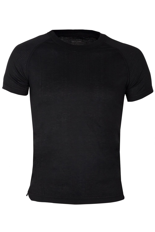 Talus Mens Short Sleeved Round Neck Top - Black