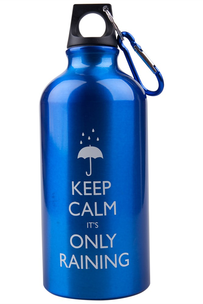 Mountain Warehouse 05L Its Only Raining Bottle with Karabiner Blue