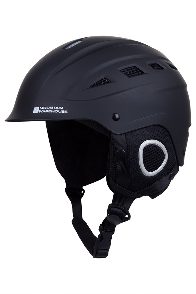 Pinnacle Unisex Ski Helmet - Black