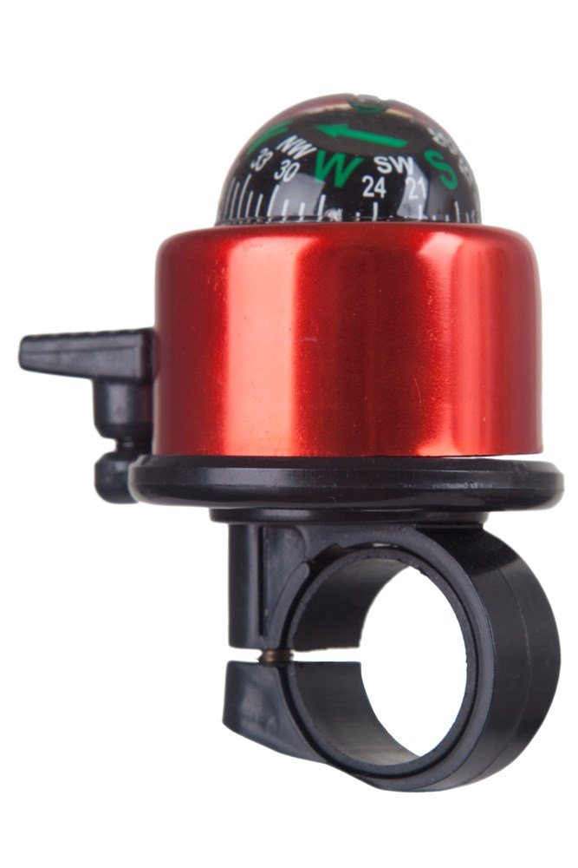 Mountain Warehouse Fahrradklingel mit Kompass rot | 05052776289030