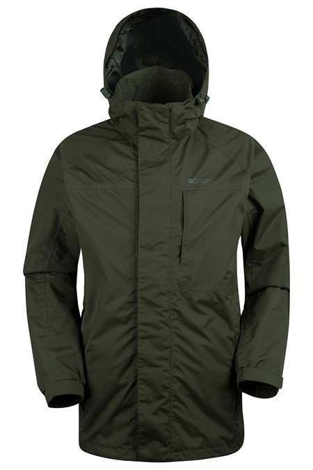 Ridge Mens Long Waterproof Jacket | Mountain Warehouse US