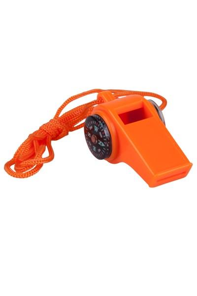 3 in 1 Emergency Whistle - Orange