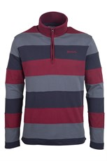 Flyde Mens Striped Zip Neck Top