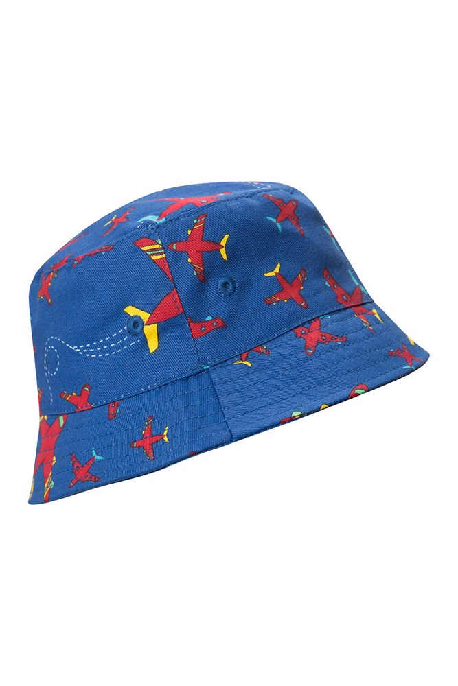 Printed Kids Bucket Hat - Blue