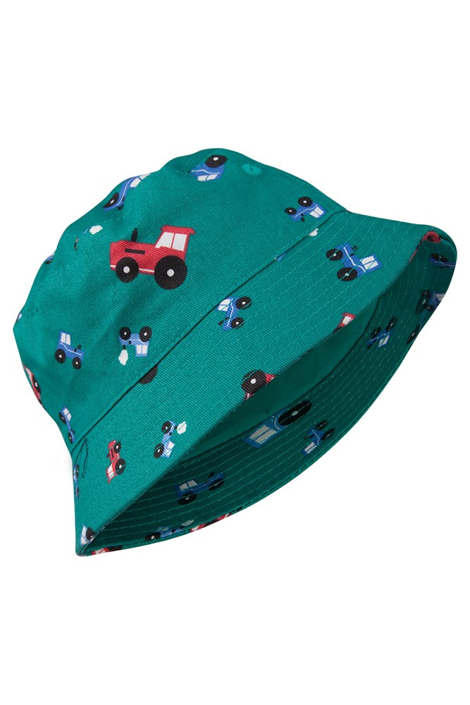 Printed Kids Bucket Hat - Green