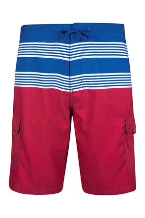 Ocean Mens Striped Boardshorts