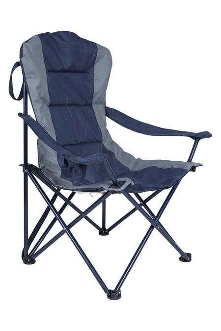 Chaise pliante camping jardin rembour e polyester - Chaise de jardin bleu marine ...