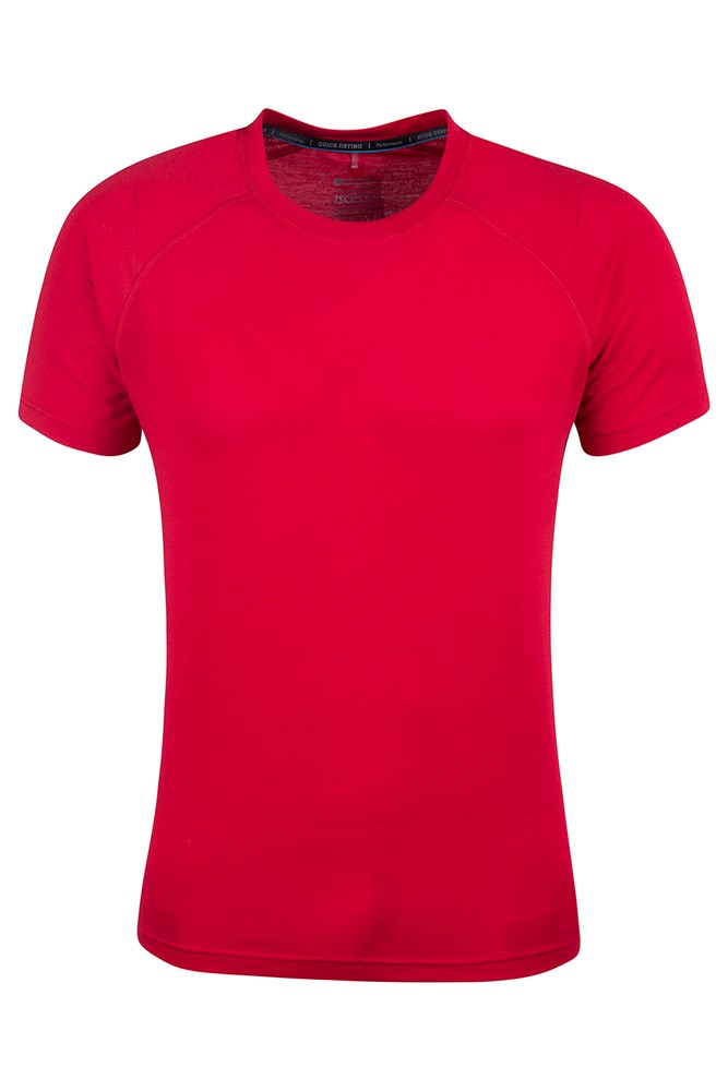District Mens Technical T-Shirt - Red