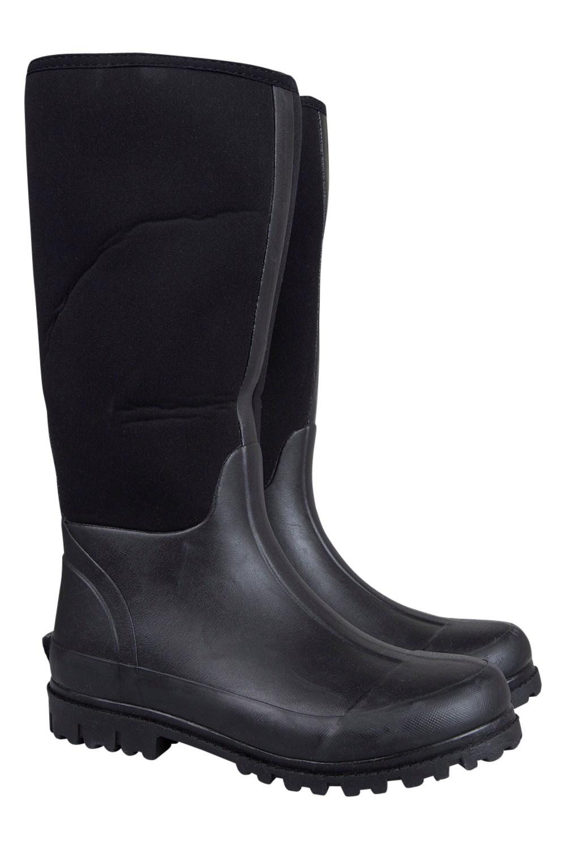 Neoprene Mucker Mens Long Boot - Black