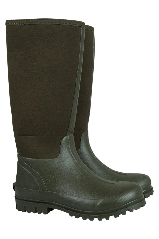 Neoprene Mucker Mens Long Boot - Green