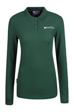 Forest Long Sleeve Womens Polo Shirt