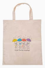 Great British Weather Shopping Bag - Cream