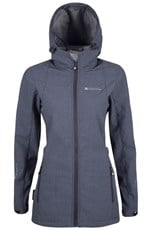 Oak Textured Long Womens Softshell Jacket