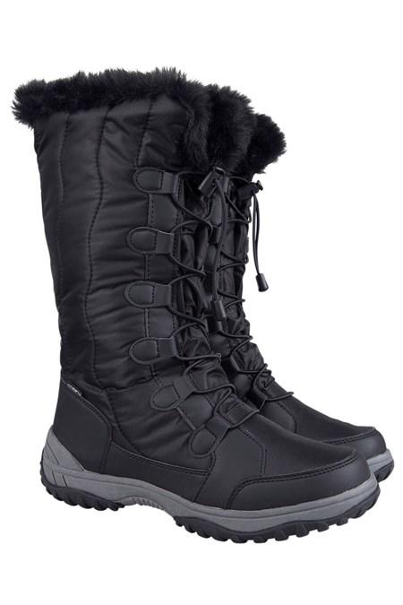 Snowbank Womens Long Snow Boots Mountain Warehouse Gb