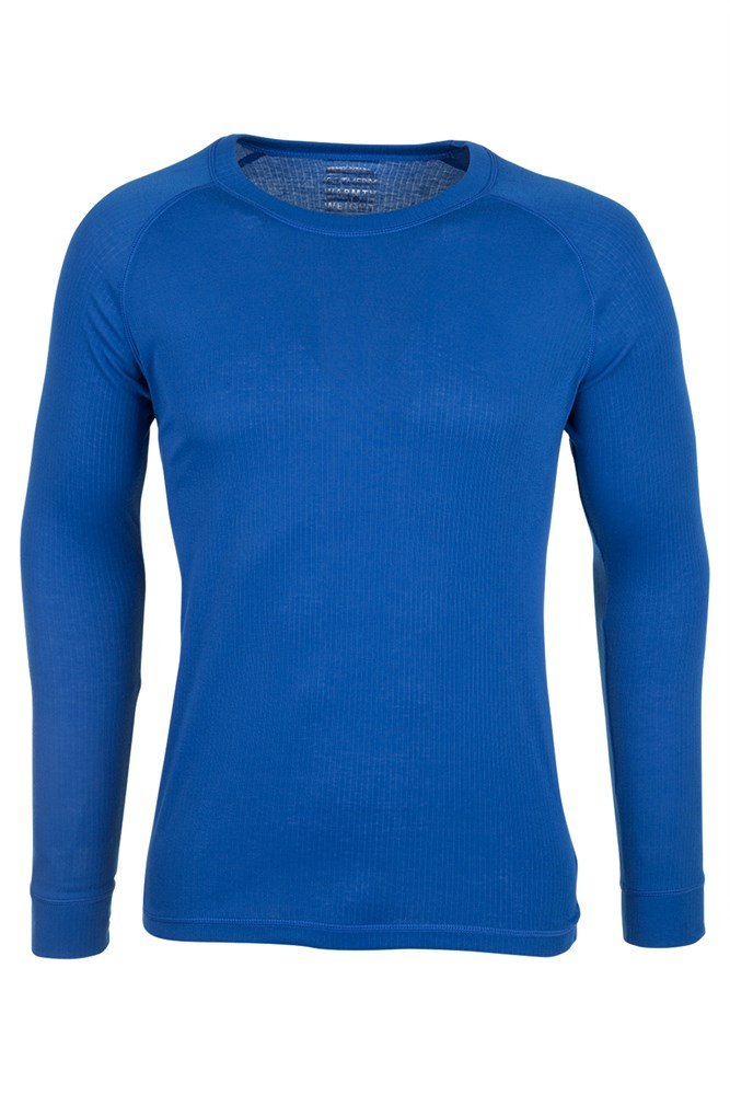 Talus Mens Long Sleeved Round Neck Top - Blue