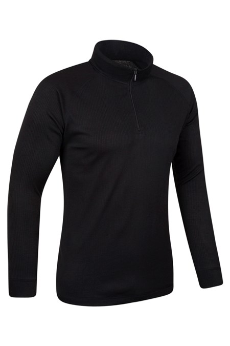 023197 TALUS LS ZIP NECK TOP