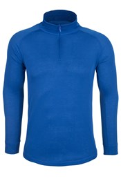 Talus Mens Long Sleeved Zip Neck Top