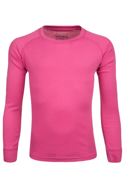 Talus Kids Round Neck Base Layer Top - Pink