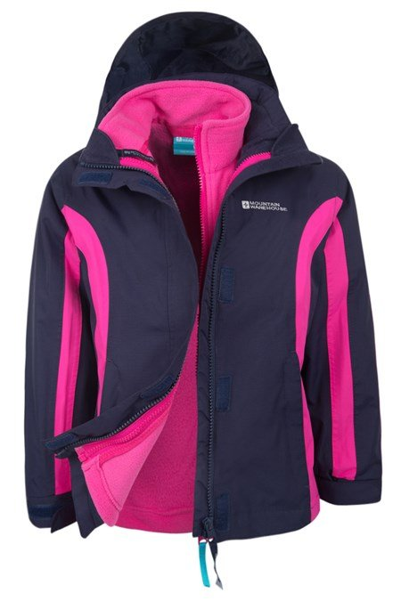 Lighting Jacket: Lightning 3 In 1 Kids Waterproof Jacket