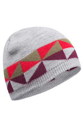 Stripe Womens Reversible Beanie