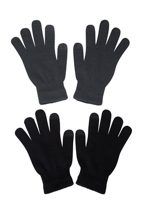 2 pares de Guantes MAGIC TOUCH SCREEN Hombres