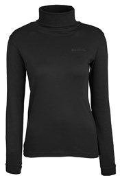 Meribel Womens Cotton Roll Neck Top