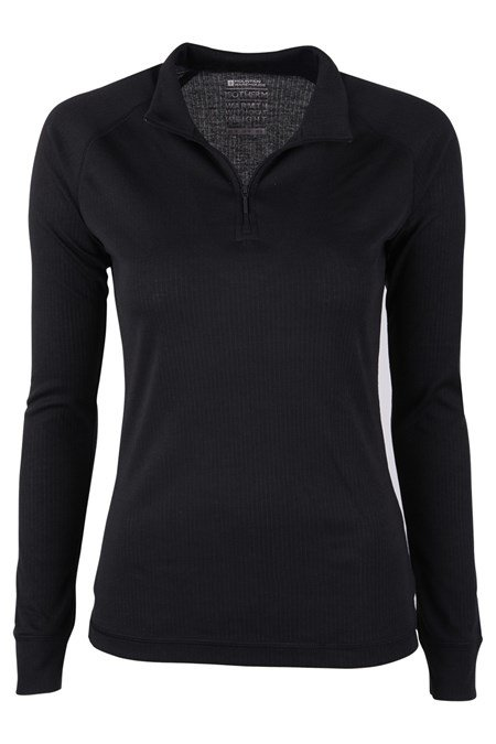 023572 TALUS WOMENS LS ZIP NECK TOP