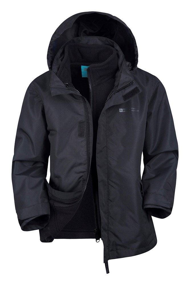 Fell Water-resistant Kids 3 in 1 Jacket - Black