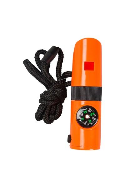 7 in 1 Survival Whistle - Orange