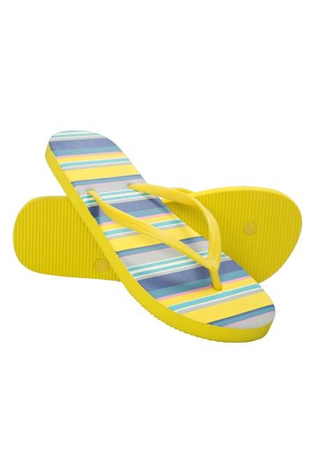 f50cc3389e4a1 Patterned Womens Flip Flops - Blue