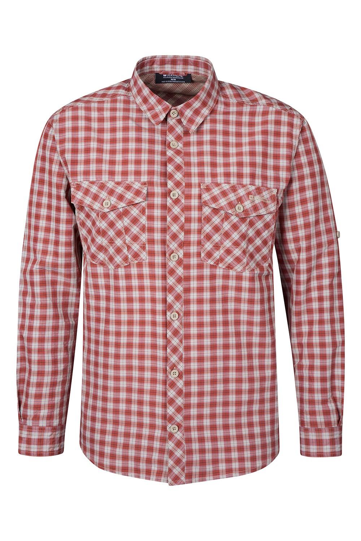 Mountain Warehouse Travel Convertible Check Mens Shirt
