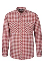 Travel Convertible Check Mens Shirt