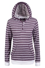 Ashley Terry Womens Button Neck Hoodie