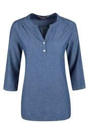 Petra Womens Relaxed Fit ¾ Sleeve Shirt