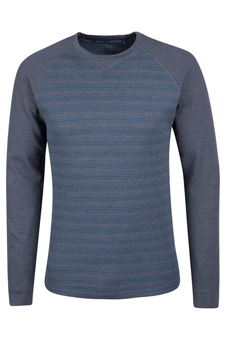 waffle mens long sleeve stripe t shirt mountain warehouse us