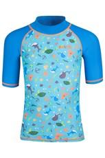 Short Sleeve Kids Printed Rash Vest