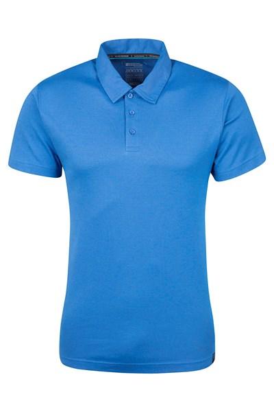 Quest Mens Technical Polo Shirt - Blue