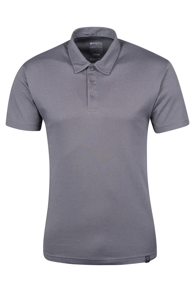 Quest Mens Technical Polo Shirt - Grey