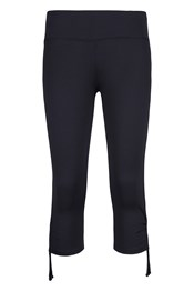 Isocool Dynamic Womens Ruche Capri Leggings