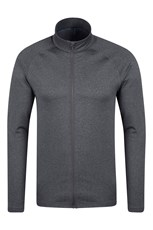Agra Mens Melange Full-Zip Midlayer
