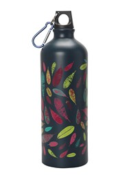 1L Bottle with Karabiner - Feathers