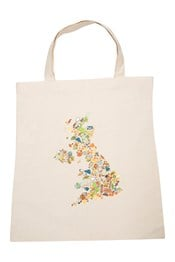 Cotton Shopping Bag - GB Map