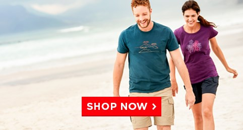 T-shirts & Shorts - Lightweight, cool and casual