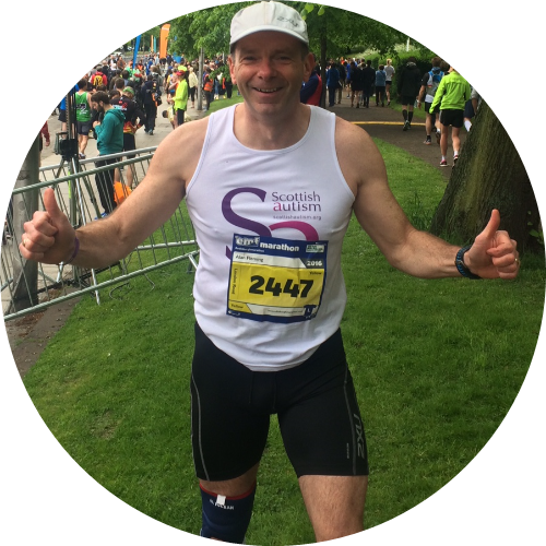 Alan's 50th Birthday, Etape Caledonia, Edinburgh Marathon & Great Scottish 10K Swim challenge.