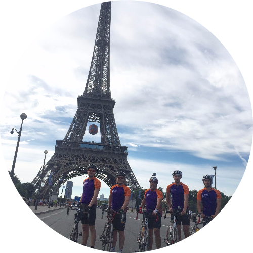 Portsmouth to Paris Pancreatic Cancer Charity Cycle